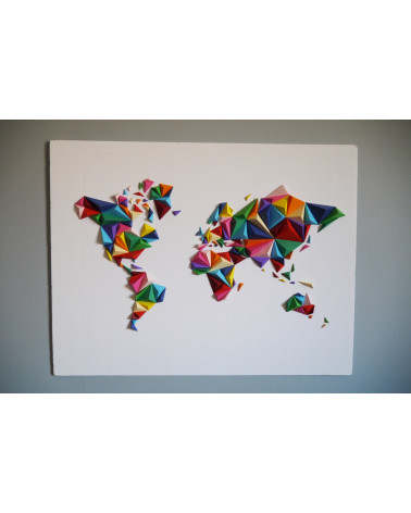 Mappemonde 3D - Multicolore - Taille S